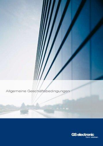 Allgemeine Geschäftsbedingungen - GS electronic Gebr ...