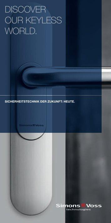 SimonsVoss - Flyer - GS electronic Gebr. Schönweitz GmbH