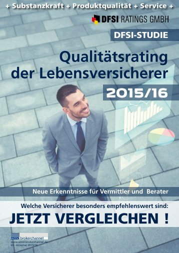 DFSI-STUDIE 2015/16: Qualitätsrating der Lebensversicherer