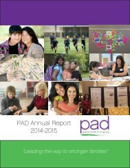 PAD Annual Report 2014-2015