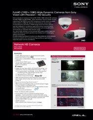 Network HD Cameras - Sony