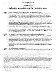 Debunking Myths About the DC Voucher Program