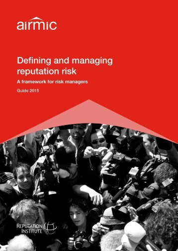 Defining and managing reputation risk