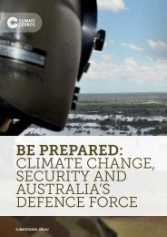 Climate Change Security and Australia's Defence Force