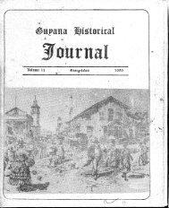 Guyana Historical Journal Volume II, 1990