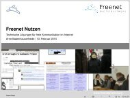 Freenet Nutzen