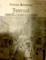 Guyana Historical Journal -Vol IV & V,1992-93
