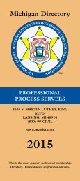 2013 Directory PDF - Michigan Court Officers, Deputy ...
