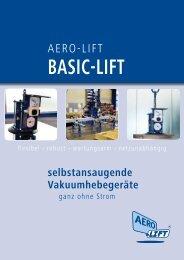Selbstansaugender Vakuumheber - BASIC-LIFT