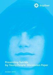 Preventing Suicide by Young People Discussion Paper