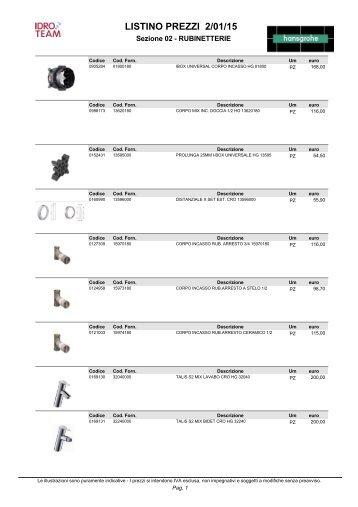 Ideal Standard Rubinetteria Listino Prezzi.Listino Prezzi 1 10 15