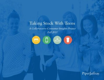Taking Stock With Teens