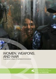 WOMEN WEAPONS AND WAR