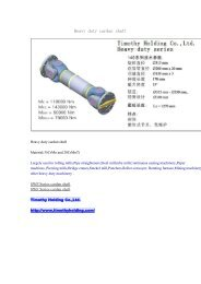 Heavy duty cardan shaft