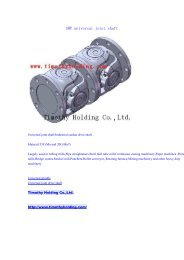 SWP universal joint shaft