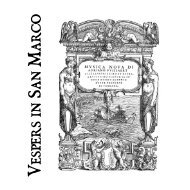 Vespers in San Marco