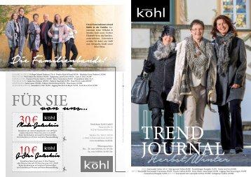 Modehaus Kohl Trendjournal
