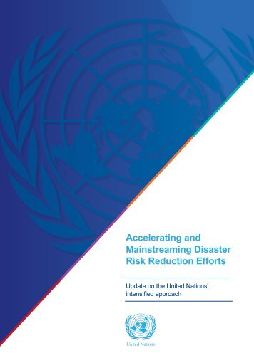 Accelerating and Mainstreaming Disaster Risk Reduction Efforts