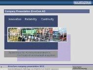 Company Presentation Ervocom AG