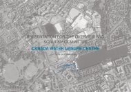 PRESENTATION FOR THE OVERVIEW AND SCRUTINY COMMITTEE CANADA WATER LEISURE CENTRE