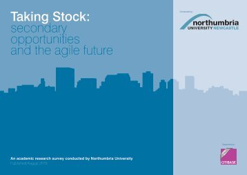 Taking Stock secondary opportunities and the agile future