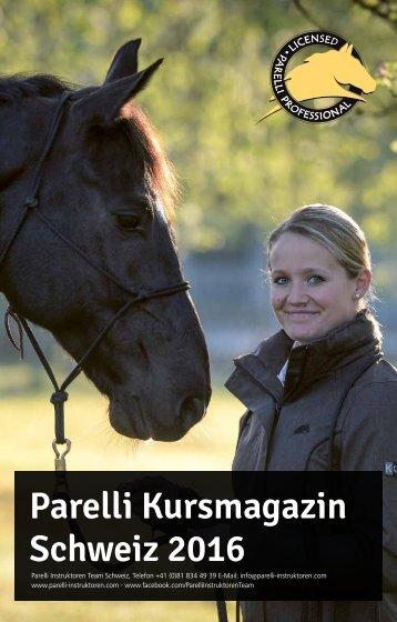 Parelli Kursmagazin Schweiz 2016