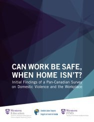 CAN WORK BE SAFE WHEN HOME ISN'T?