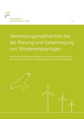 Vermeidungsmaßnahmen bei  der Planung und Genehmigung  von Windenergieanlagen
