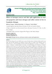 Effects of nitrogen sources and their split application on some soil properties and tissue nitrogen and sulfur content of rice in Gambella, Ethiopia