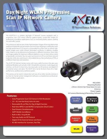 Day/Night WLAN Progressive Scan IP Network Camera - Dell
