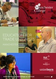 EDUCATION FOR TRADE UNIONISTS
