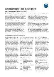 Meilensteine in der Geschichte der HUBER+SUHNER AG