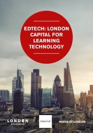 EDTECH LONDON CAPITAL FOR LEARNING TECHNOLOGY