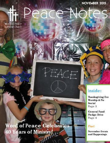 Peace Notes November 2015