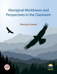 Aboriginal Worldviews and Perspectives in the Classroom