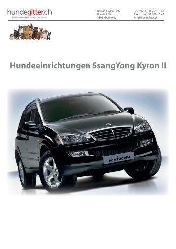 SsangYong_Kyron_II_Hundeeinrichtungen