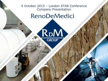 5 October 2015 – London STAR Conference Company Presentation