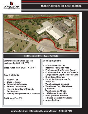 Industrial Space for Lease in Buda