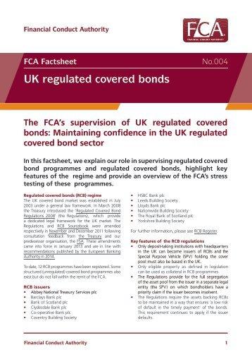 UK regulated covered bonds
