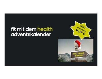 Fit mit dem health adventskalender 2015