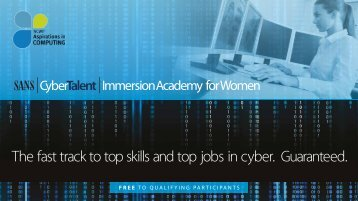 The fast track to top skills and top jobs in cyber Guaranteed