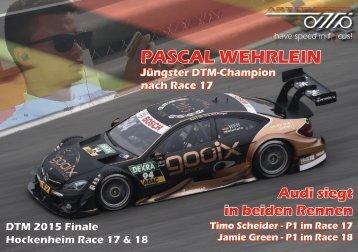 {have speed in f[ ]cus!} DTM 09 - Race 17 & 18 Saisonfinale