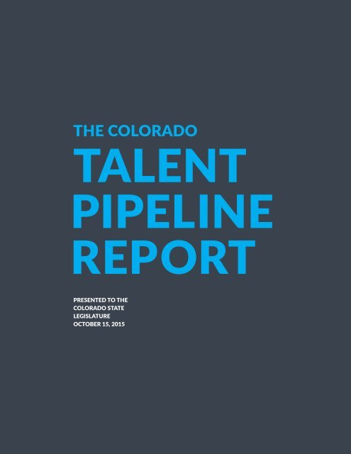 TALENT PIPELINE REPORT