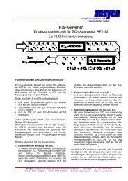 H2S-Konverter - ANSYCO Analytische Systeme und Componenten ...