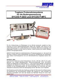 SYCOS P-GEO und SYCOS P-MFC - ANSYCO Analytische Systeme ...