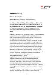 Medienmitteilung - SV (Schweiz)