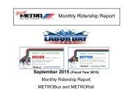 Monthly Ridership Report