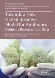 Towards a New Global Business Model for Antibiotics