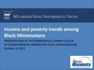 Income and poverty trends among Black Minnesotans