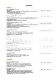 10 Oktober Weinkarte